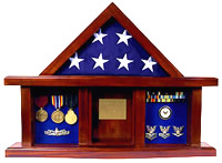 washintgon flag case shadow box flag frame
